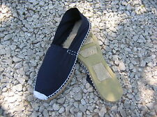 Blue Spanish traditional ropesole canvas espadrilles-unisex- handmade in Spain