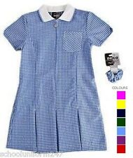 LARGE SIZE SCHOOL SUMMER GINGHAM DRESSES SCHOOL WEAR UNIFORM SIZE 36 38 40 42 44