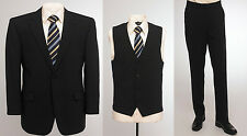 "BNWT Skopes wool blend 3 piece suit in plain Navy blue, chest 60"" to 62"""