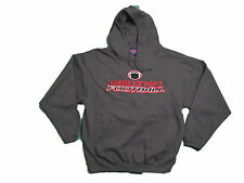 WISCONSIN BADGERS FOOTBALL ADULT GREY SCREEN PRINTED HOODED SWEATSHIRT NWT