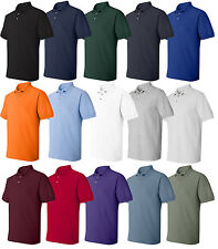 Hanes Mens Cotton Pique Sport Polo Shirt S M L XL 2XL 3XL 4XL 5XL 6XL 055X-055