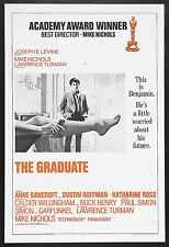 THE GRADUATE Movie Poster 1967 Dustin Hoffman