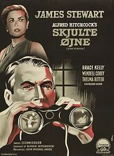 REAR WINDOW Movie Poster 1954 Alfred Hitchcock Psycho