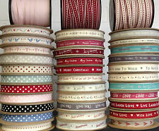 LARGEST SELECTION EAST OF INDIA RIBBON 1 METRE - DOTS HEARTS GINGHAM STRIPES