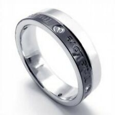 True Love Titanium Steel Couple Ring Silver