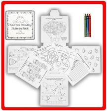 Children's Wedding Activity Fun Drawing Colouring 16 Page Puzzle Pack