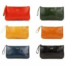 NEW Women's Genuine real leather CENA medium Pouch bag Clutch cosmetic bag purse