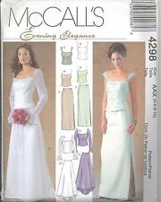 McCall's 4298 Misses'/Miss Petite Lined Tops and Skirts  Sewing Pattern