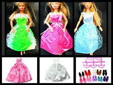 BARBIE SINDY DOLL TOYS CLOTHING OUTFIT LONG DRESS BALL GOWN WEDDING UK SELLER