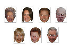 Jubilee Face Masks - Fancy Dress - Party Fun - Masks - Hen/Stag Nights