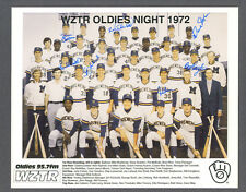 Milwaukee Brewers signed 1972 Oldies Night color team photo