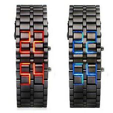 New Iron Samurai Metal Bracelet LAVA Watch LED Digital Watches Hour Men Women