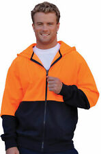 * New *  High Visibility Fleecy Warm Hoodie Jumper Jacket ~ Fast Delivery