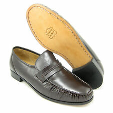 CLIMATE X 21592-4 EEE WIDE WIDTH MENS BROWN Slip on Loafers, LEATHER Dress Shoes
