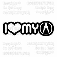 I Heart Love My Acura Decal Sticker FS HT021