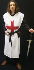 Medieval/SCA/Larp/Re enactment KNIGHTS TEMPLAR large Red cross SURCOAT sml-XXXXL