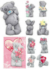 5 TATTY BEAR IRON ON T-SHIRT FABRIC TRANSFERS or STICKERS WALLDECO A4 ME TO YOU