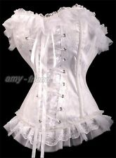 Gothic White Bridal Wedding Corset Lolita Bustier Punk top Size S-2XL AF A2771