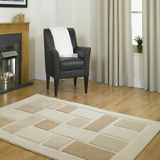 SMALL - EXTRA LARGE THICK MODERN CONTEMPORARY CREAM BEIGE RUG
