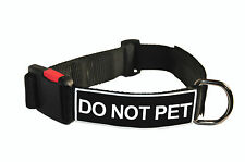Dog Collar With Velcro Patches by Dean Tyler: Do Not Pet
