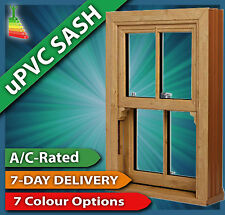 Woodgrain uPVC Sliding Sash Windows - Various Sizes #1