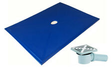 Kaskade Wetroom Shower Tray & Trap for tiled,vinyl or soft floors in 3 sizes