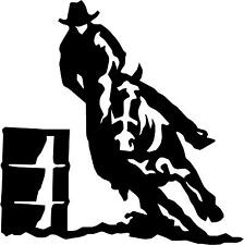 "Barrel Race Horse Cowboy  Decal 3.75""x3.75"" choose color!  vinyl sticker"