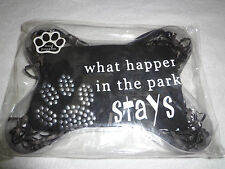 New Mudpie Dog T-shirt What Happen in the Park stays in the Park Black
