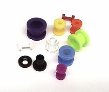 PAIR - Premium QUALITY Acrylic Screw Fit Flesh ear plugs **TUNNELS** - UK