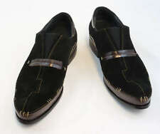 New Encore Dress Shoes by Fiesso Brown/Black  Leather/Suede, FI8619