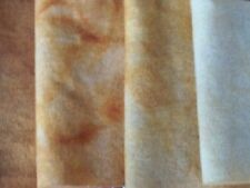 """""""Sunstone"""" - hand dyed rug hooking wool fabric - (1) Fat Quarter 100% Wool"""