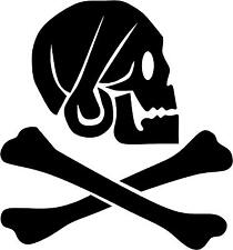 "Skull and Crossbones Pirate Decal 3.75""x4"" choose color!  vinyl sticker SC8"