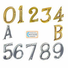 "3""/75mm or 2""/51mm Numerals House Door Numbers Chrome Brass 0 1 2 3 4 5 6 7 8 9"