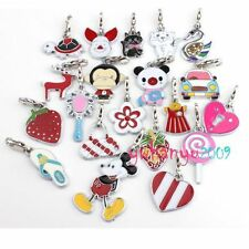 Lots 10-12pcs Lobster Clip Assorted Enamel Pendants Beads Fit Charms Bracelet