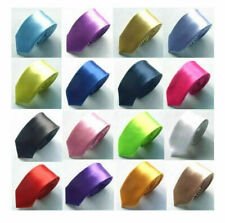 "MENS Casual & Formal Quality Plain SILK TIE ~ Solid Colour Ties ~ 4"" / 10 cms"