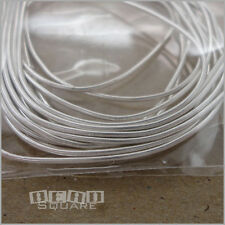 "Silver Plated French Wire Bullion Thread Cord Cover Protector Total 70"" (5'10"")"