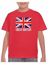 Kids Union Jack T Shirt - Choice of Red White and Blue or Pink Union Jack Flag