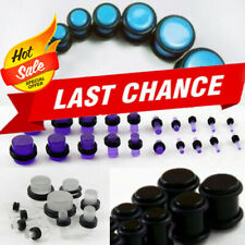 Make A Set No Flare Acrylic O-Ring Ear Plug Gauge Stretching Expanding Set Kit
