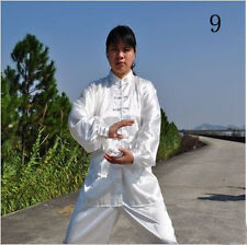 Kung Fu Suit Martial Art Jacket Pants Unisex Tai Chi Uniform Chinese Black/White