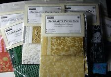 NEW 10 pc DECORATIVE PAPER PACK Handcrafted Papers *Multi-Color* THE PAPER CO.