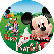"Mickey Mouse Clubhouse 7.5"" ROUND Cake Topper Rice Paper/Icing 24HR POST!"