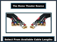 Premium RCA-Red/White & RGB-Red Green Blue YPbPr Component Video Cable Wire Cord