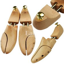 1 PAIR of Solid Wood Stretcher Shaper Shoe Trees US 5~12, EU 35~46 Mens & Womens