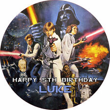 """Star Wars 7.5"""" ROUND Cake Topper Rice Paper/Icing 24HR POST!"""
