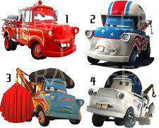 CARS 2 STICKER WALL DECO DECAL DISNEY MATER'S TALL TALES FIRE ENIGNE