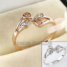 Fashion Flower Ring 18KGP use Rhinestone Crystal