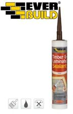 EVER BUILD TIMBER & LAMINATE ADHESIVE SEALANT GAP FILLER FLEXIBLE WORKTOP FLOOR