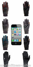NEW MENS NIKE THERMAL TECH RUNNING WINTER GLOVES WITH TOUCH SCREEN PHONE THUMB