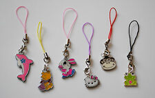 MOBILE PHONE/HANDBAG/MP3 LANYARD WITH CHOICE OF ANIMAL CLIP ON CHARMS