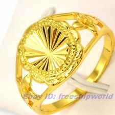 Size 7,8,9 Ring,REAL SHINING 18K YELLOW GOLD GP EMPAISTIC SOLID FILL GEP UNISEX